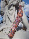 Yoga Matten Seesack aus Baumwoll Stretch mit Platz für Gurt und kleines Tuch, 28€, Artikelbezeichnung: Anemonen Yoga-Seesack